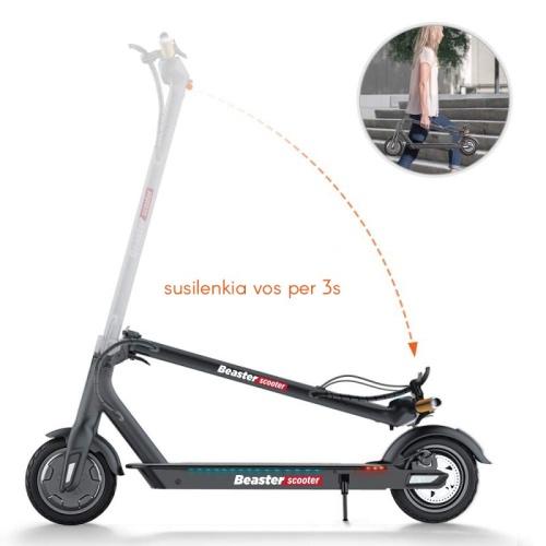 """Elektrinis paspirtukas Beaster Scooter """"BS06BL"""", 350 W, 36 V, 8 Ah, juodas"""