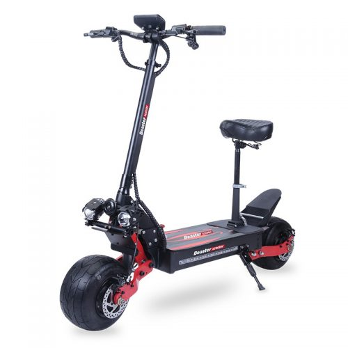 Elektrinis paspirtukas Beaster Scooter BS10, 2000 W, hidrauliniai stabdžiai, sėdynė nuimama