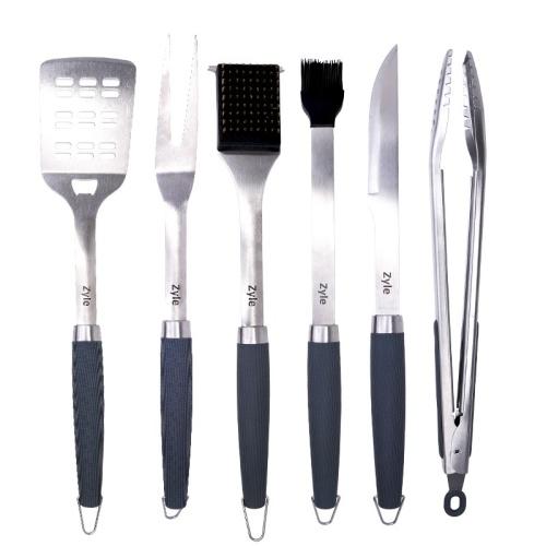 Grilio įrankių rinkinys Zyle BBQ Tool Set ZY101SET, rinkinyje 6 vnt. įrankių, lagamine
