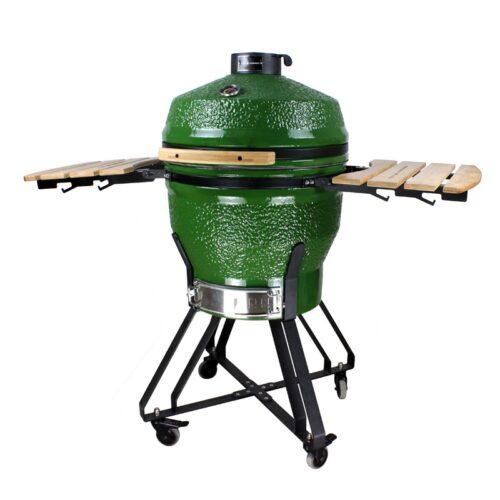 """Kamado grilis su priedais Zyle """"Large"""", ZY22KSGRSET, 56 cm, žalias"""
