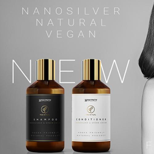 Šampūnas ir Kondicionierius su žaliųjų ikrų ekstraktu ir nanosidabru normaliems plaukams - Raypath Green Caviar