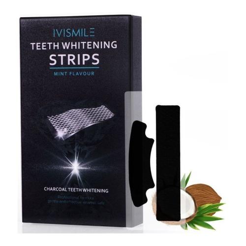 Dantų balinimo juostelės IVISMILE Teeth Whitening Strips Mint Flavour IVISMILE12, mėtų skonio, 14 porų