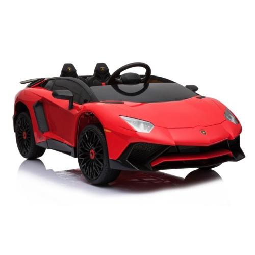 Vaikiška elektrinė mašinėlė Lamborghini Aventador BDM0913, raudona