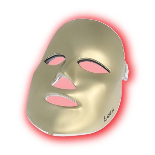 LED šviesos terapijos kaukė veidui Be OSOM Skin Rejuvenation Face Mask Gold BEOSOMSR11GOLD, fotodinaminė šviesos terapija